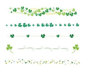 St. Patrick's Day clover line set