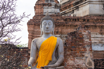 Buddha statue & Temple in Ayutthaya, Thailand