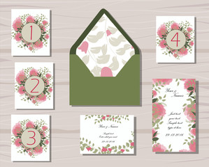 greenery and floral wedding patterns vector design