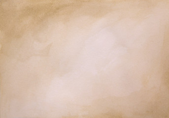 Brown watercolor background - abstract texture
