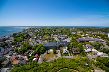 Arial view of Provincetown Massachusetts