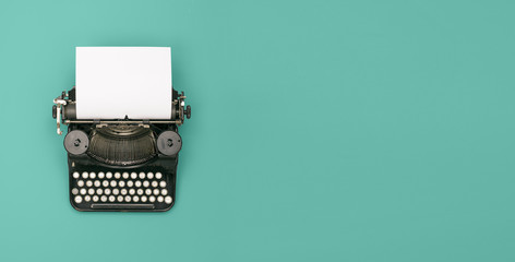 Foto op Canvas Retro vintage typewriter header