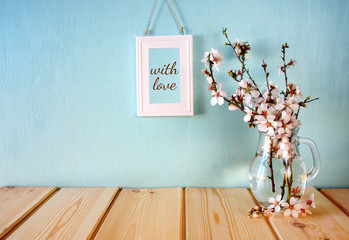 image of spring white cherry blossoms tree