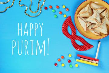 Purim celebration concept (jewish carnival holiday).