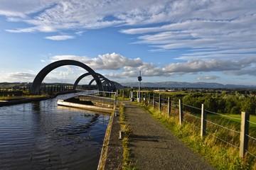 Schottland - Falkirk Wheel Wasserweg zum Union Kanal