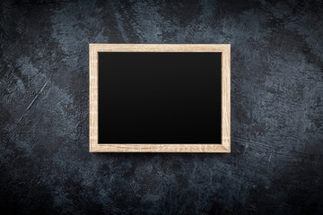 Fotoväggar - Picture frame on a grey wall