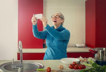 Selfie in the kitchen