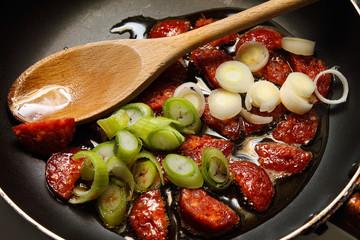 Sausage ang vegetable baking