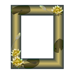 Frame with flowers of a water-lily