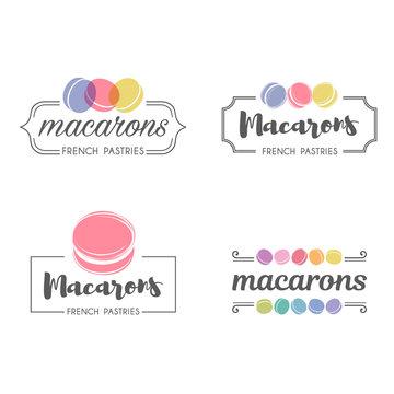 Vector logo macaron for shop, boutique, store