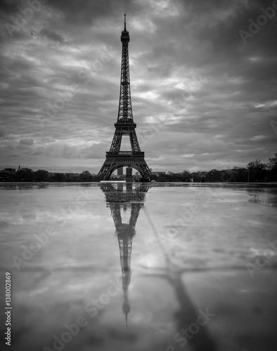 Stone Pavement In Paris : Quot view of the eiffel tower from trocadero reflection