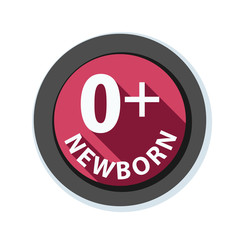 Zero Plus Newborn sign illustration