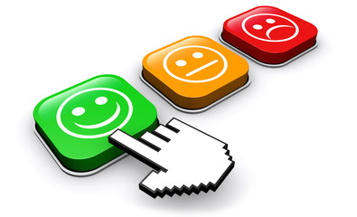 Customer Quality Survey Feedback Buttons