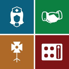 Set of 4 professional filled icons
