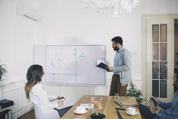 Business people planning in meeting room