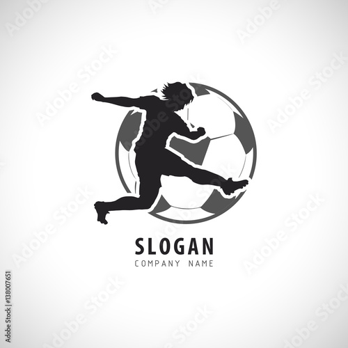 Soccer Football Player Logo Sport Emblem Football Vector