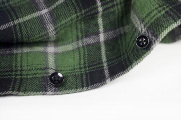 green plaid flannel fabric cloth