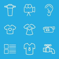 Set of 9 graphics outline icons