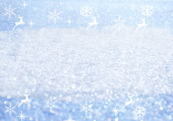 Winter Holidays. Christmas background with snowflakes