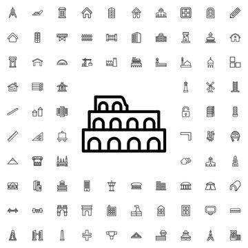 Coliseum icon illustration