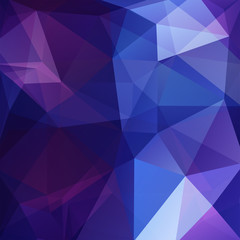 Polygonal vector background. Can be used in cover design, book design, website background. Vector illustration. Blue, purple colors.