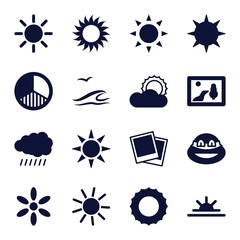 Set of 16 sunset filled icons