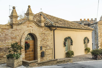 Panoramic view from an alley in Grottammare, Marche, Italy