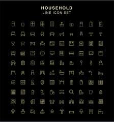 Household Line Icon Set
