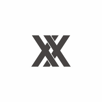 x x Letter Logo Vector