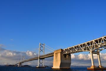 坂出側から見た瀬戸大橋(2017年2月)