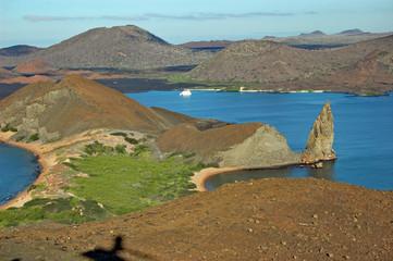 Pinnacle Rock and Sullivan Bay, Galapagos