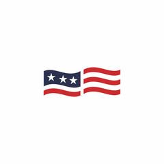 Campaign Flag Logo Vector