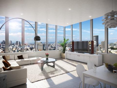 タワーマンション condominium ペントハウス 昼