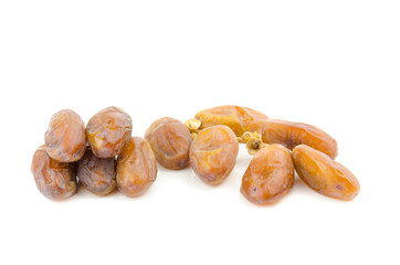 Wall Mural - date palm ,Date fruits isolated on white background