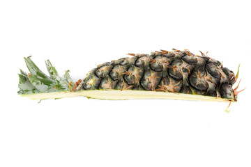 Wall Mural - Pineapple isolated on white