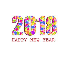 Vector - Happy New Year 2018, illustration