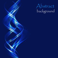 Abstract  background with glowing blue waves