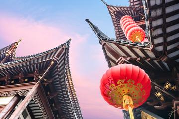 Chinese new year lanterns in china