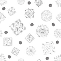 sacred geometry seamless pattern