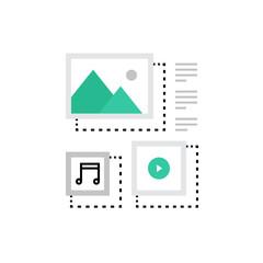 Content Management Monoflat Icon.