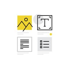 Content Design Monoflat Icon.