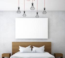 minimal bedroom design and picture frame