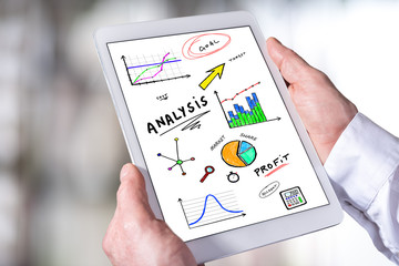 Analysis concept on a tablet