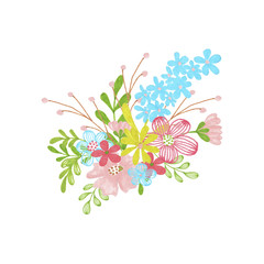 Flowers Hand-Painted Spring Illustration