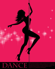 Pole dancer girl