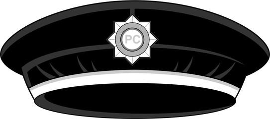 Cartoon UK Policemans Hat