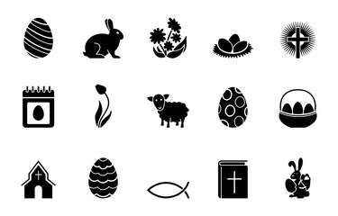 Ostern Iconset - Schwarz