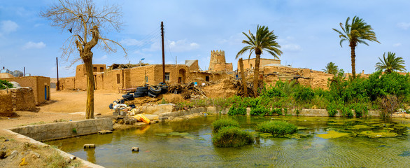 old pise-walled Iranian village
