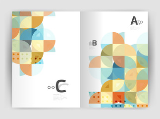 Vector modern geometric annual report cover