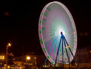 Big multicolored wheel